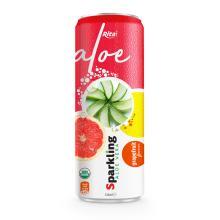 Private Label Brand Sparkling Aloe Vera Grape Fruit