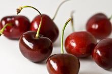 Fresh Dark Red Cherries