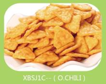 chili baked triangle rice cracker