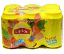 Lipton ICE TEA Peach 330ml cans.