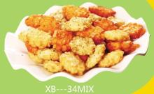 mixed fried rice crackers