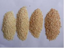 various kinds of dehydrated garlic granules