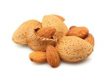 Raw almonds safely dried fruit