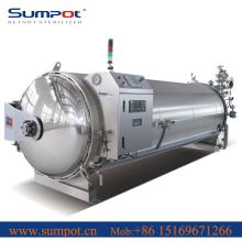 Hot water shower retort sterilizer with Simens PLC