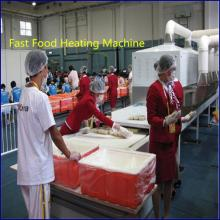 Continuous microwave fast food heating machine, ready meal heating equipment