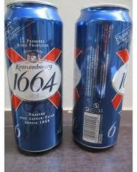 KRONENBOURG 1664 BLANC CAN