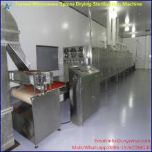 Tunnel microwave dryer for spices,chili powder, pepper ,cumin
