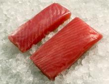 Sashimi Grade Frozen Tuna.