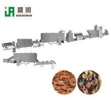 Puff Corn Flakes Corn Chips Breakfast Cereal Making Extruder Machine