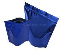 Shiny Blue  Stand   Up   Pouch es with Zipper