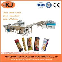 Automatic noodle weighing and packing machine with eight weighers