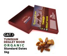 Organic Standard Dates Deglet Nour ,1 kg Carton Box