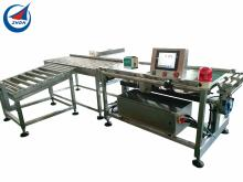 Food package automatic conveyor checkweigher