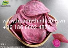 purple sweet potato slice