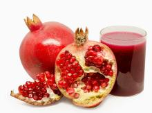 Tunisian  Pomegranate ,  fresh  juicy  pomegranate   fruit
