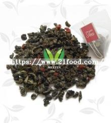 Milk Cherry Flavor Green Tea Triangular Pyramid Teabags