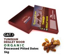 Organic Processed Pitted Dates 1 kg carton box ; Category 1