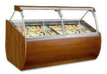 Wood Gelato Merchandiser 28 pan capacity