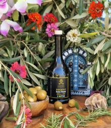 100% Organic Extra Virgin Olive Oil 250mL, Natural Olive Oil Glass Bottle Tin.