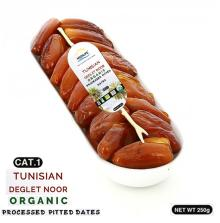 Organic Processed Pitted Dates 250 gr Tray ;Category 1 Dates