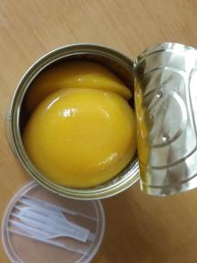 Canned fruit yellow peach