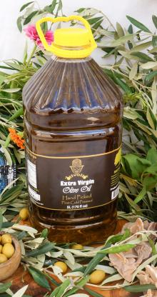 Tunisian Extra-virgin Olive Oil, High Quality Tunisian Virgin Olive Oil from Chemlali Olives, 5l Pla