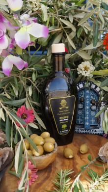 Certified Organic Extra Virgin Olive Oil,Golden Olive Oil in 500 mL. Mago Dark Glass bottle