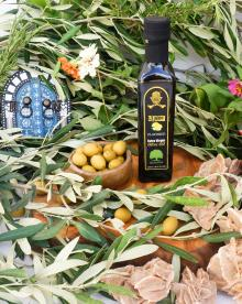 Flavored Olive Oil with Lemon FDA Certified.100% Olive Oil with Lemon in Glass Bottle 250 ml