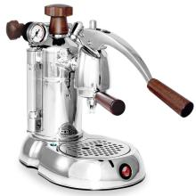 la Pavoni Stradivari Professional Espresso Maker - Wood & Chrome