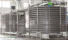 Huaxian single/double drum spiral blast freezer storage aquatic products,meat,pultry,vegetables