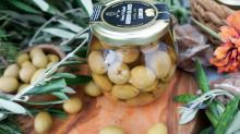Stuffed Green Olives with Lemon, Premium Quality Tunisian Olives, Table Olives. 370 ml Glass Jar