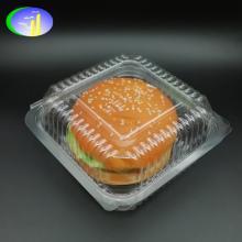 Disposable plastic hamburger packing box, plastic burger box