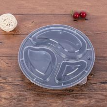 1000ML Disposable lunch box, three compartment PP transparent packing box