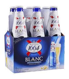 French Kronenbourg Beer 1664 Blanc 24x33ml