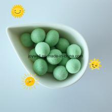 Round Wasabi Flavor Coated Peanut Green Color OEM Service