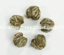 Hand-Tied Natural Green  Tea   Leaves    Edible Flowers Blooming  Tea
