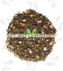 Milk Strawberry Fruit Flavor Green Tea